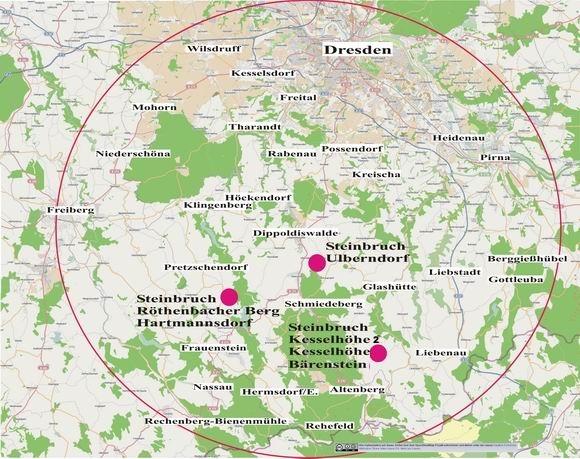Karte des Vertriebsgebietes